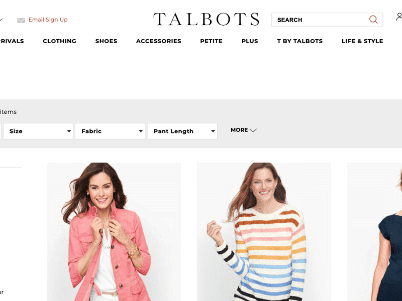 Talbots Black Friday sale ads