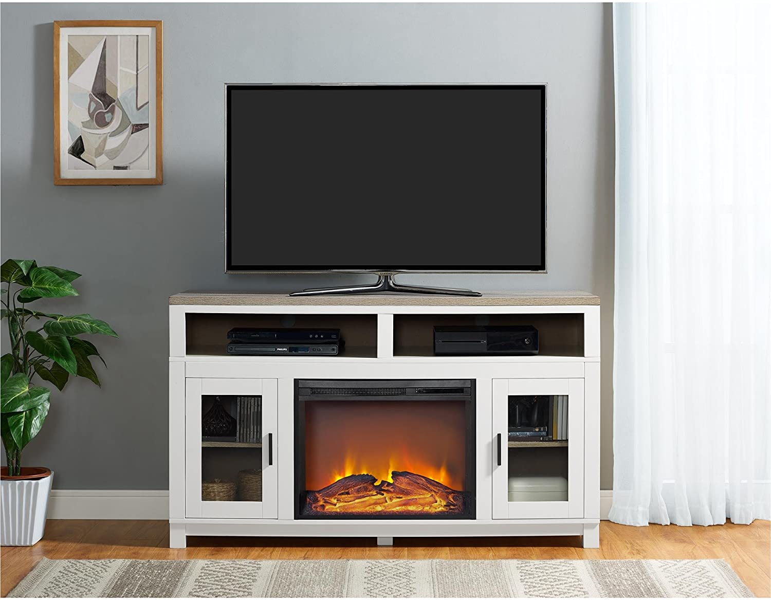 15 Best electric fireplace TV stand in 2021 2