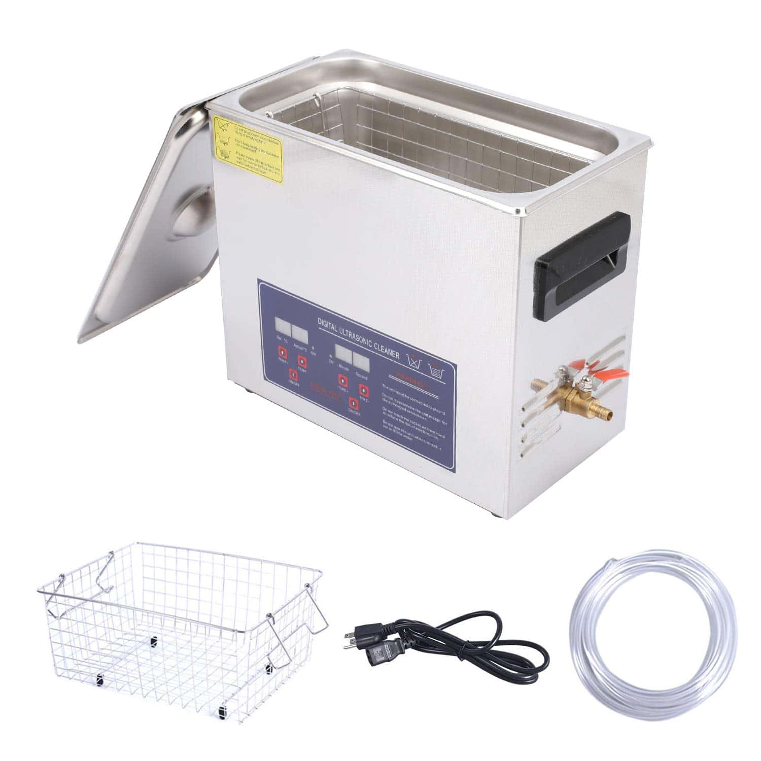 HATISS Professional Ultrasonic Cleaner with Digital Timer and Heater