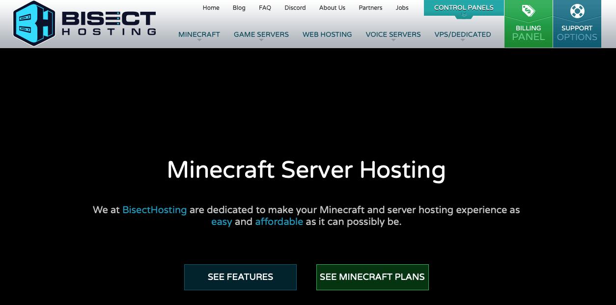 bisect Best Minecraft Server Hosting