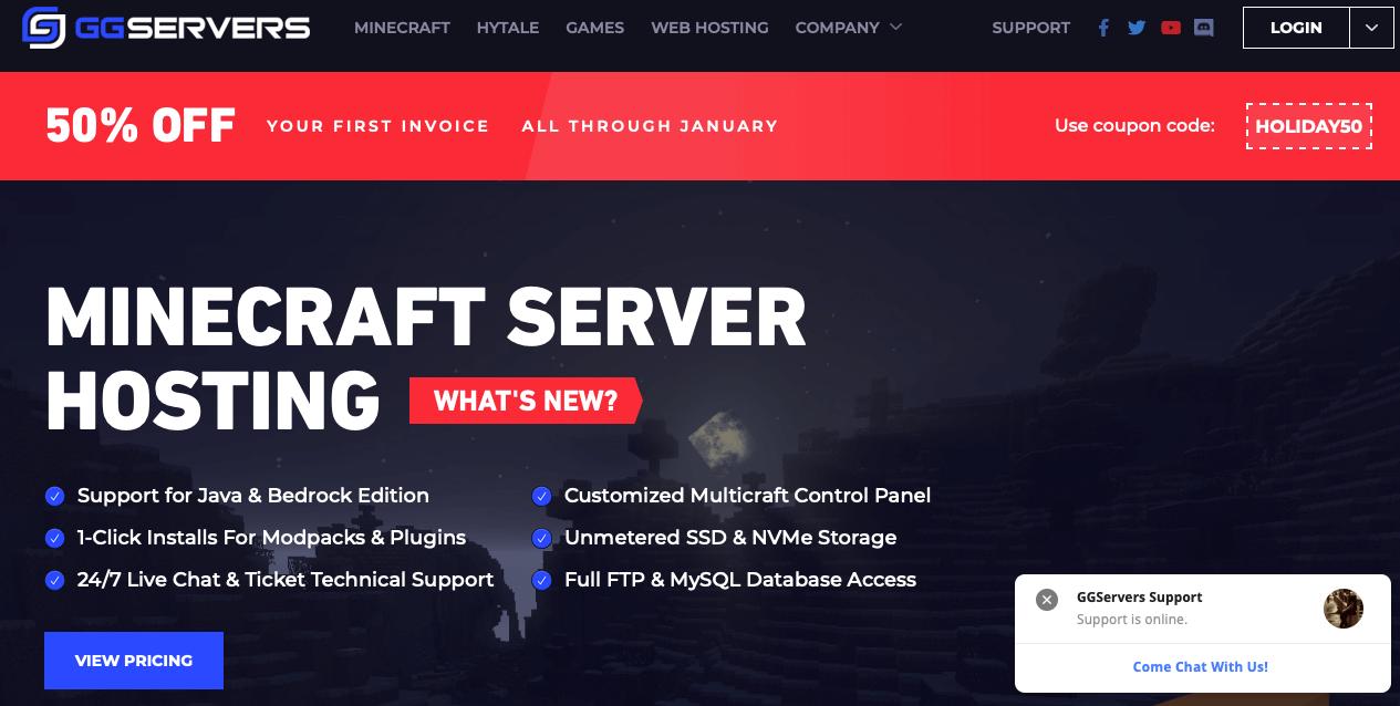 GGServers Best Minecraft Server Hosting