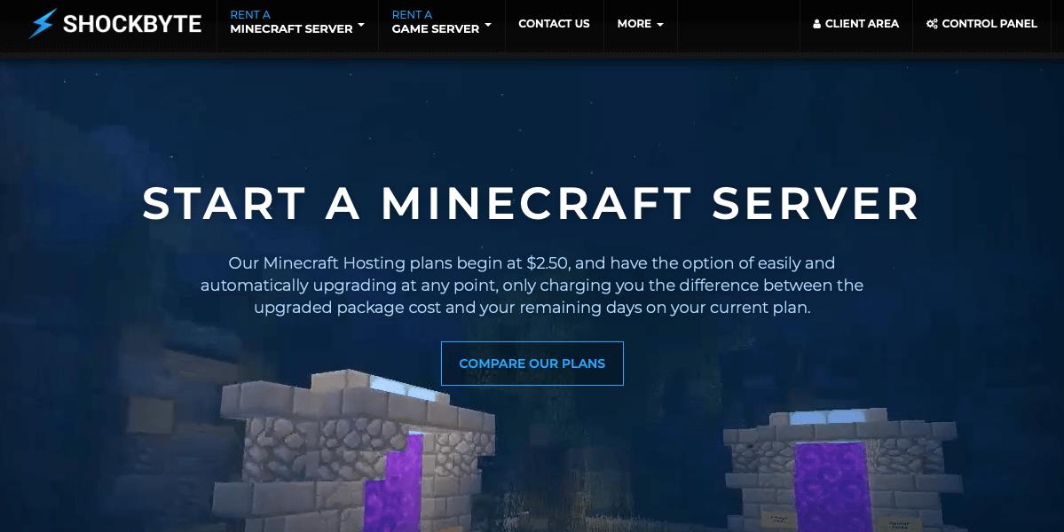 shockbyte Best Minecraft Server Hosting