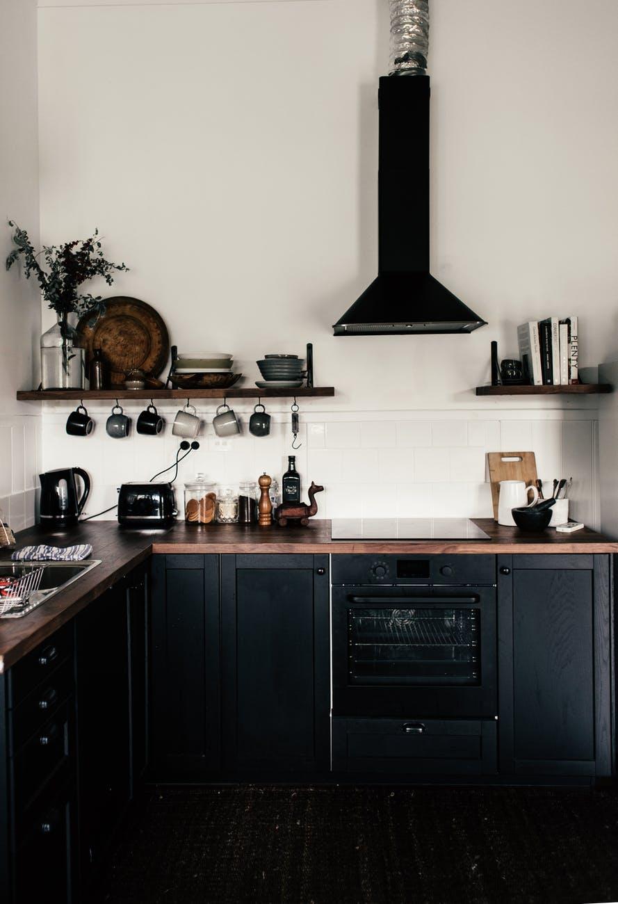 interior of modern kitchen in apartment